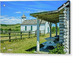 Historic Mcdougall Church, Morley, Alberta, Canada Acrylic Print