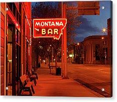 Historical Montana Bar Acrylic Print
