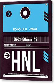 Hnl Honolulu Luggage Tag II Acrylic Print