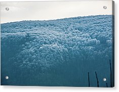 Hoarfrost Blue Mountain Acrylic Print