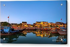Hoi An Old Town In Vietnam After Sunset Acrylic Print