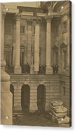 Hoisting Final Marble Column At United States Capitol Acrylic Print