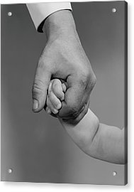 Holding Hands Acrylic Print by H. Armstrong Roberts