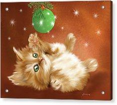 Holiday Kitty Acrylic Print