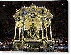 Holiday Lights - Gazebo Acrylic Print