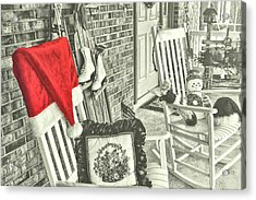 Holiday Porch Acrylic Print by JAMART Photography