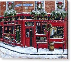 Holidays At The Temple Bar Acrylic Print