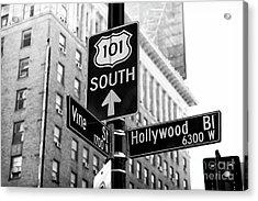 Hollywood And Vine Street Sign Acrylic Print