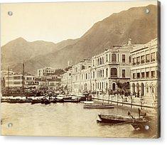 Hong Kong Harbour Acrylic Print by John Thomson