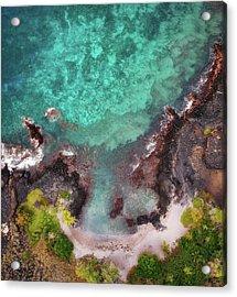 Honokohau Harbor Beach Aerial Acrylic Print