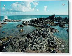Acrylic Print featuring the photograph Hookipa Song Of The Sea by Sharon Mau