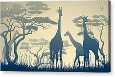 Horizontal Vector Illustration Of Wild Acrylic Print