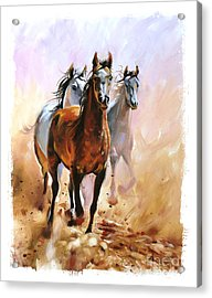 Horse Equestrian Passion Oil Painting Acrylic Print