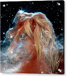 Acrylic Print featuring the photograph Horsehead Nebula With Horse Head Outer Space Image by Bill Swartwout Fine Art Photography