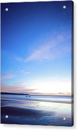 Horses Play In The Surf At Twilight Acrylic Print