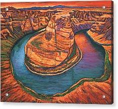 Horseshoe Bend Sunset Acrylic Print
