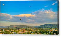 Hot Air Ballon Cluster Acrylic Print
