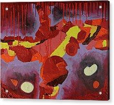 Hot Red Acrylic Print