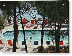 Hotel Il Pellicano Acrylic Print by Slim Aarons
