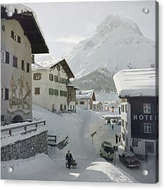 Hotel Krone, Lech Acrylic Print by Slim Aarons