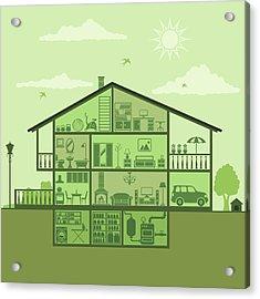 House Interior Acrylic Print by Alonzodesign