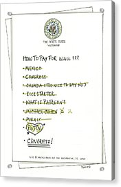 How To Pay For Wall  Acrylic Print