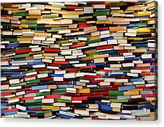Huge Stack Of Books - Book Wall Acrylic Print by Funky-data