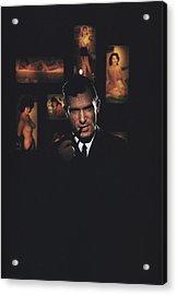 Hugh Hefner Acrylic Print by Slim Aarons