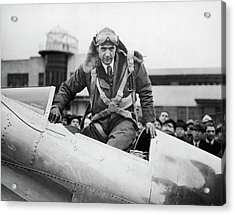 Hughes Boards His Plane Acrylic Print by Time Life Pictures