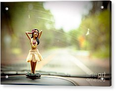Hula Dancer Acrylic Print by Henry Lien