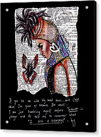 I Am A Woman Acrylic Print