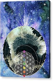 Acrylic Print featuring the digital art I Am by Bee-Bee Deigner