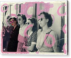I Believe In Pink Acrylic Print