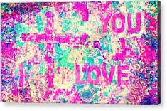 I Love You Jesus Acrylic Print