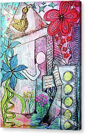I Opened The Curtain And There Was Spring  Acrylic Print