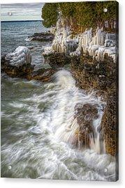 Ice And Waves Acrylic Print