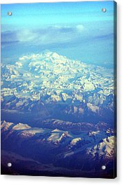Ice Covered Mountain Top Acrylic Print