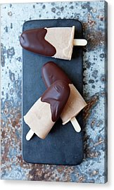 Ice Cream Bars Dipped In Chocolate Acrylic Print by Cultura Rf/line Klein