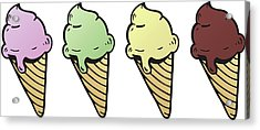 Ice Cream - Illustration Acrylic Print by Onion