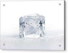 Ice Cubes Acrylic Print by Sbayram
