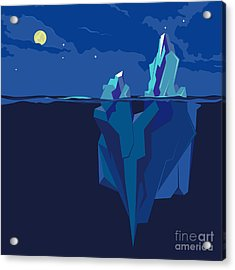 Iceberg Underwater And Above Water At Acrylic Print