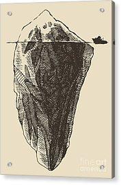 Iceberg With Icebreaker Vintage Acrylic Print
