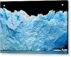 Icebergs Isolated On Black Acrylic Print