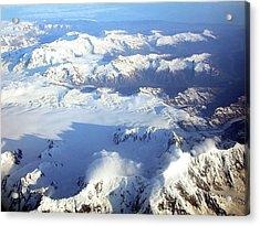 Icebound Mountains Acrylic Print