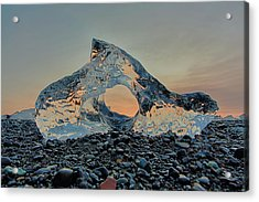 Acrylic Print featuring the photograph Iceland Diamond Beach Abstract  Ice by Nathan Bush