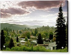 Idaho, St. Maries, Nestled In A Valley Acrylic Print