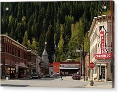 Idaho, Wallace, The Panhandle Town Of Acrylic Print