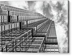 Ids Center, Minneapolis, Monochrome Acrylic Print by Jim Hughes