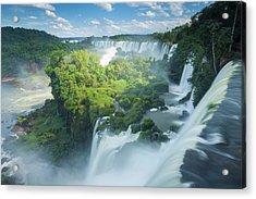 Igauzu Falls In Argentina Acrylic Print by Grant Ordelheide