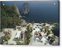 Il Canille Acrylic Print by Slim Aarons